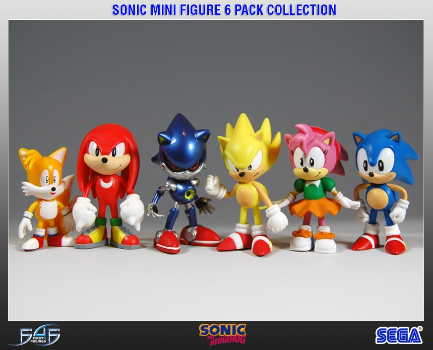 Sonic Mini Figure 6 Pack Collection