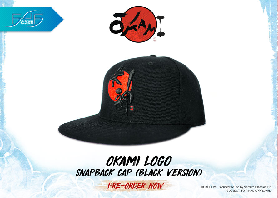 Okami Logo Snapback Cap (Black Version)