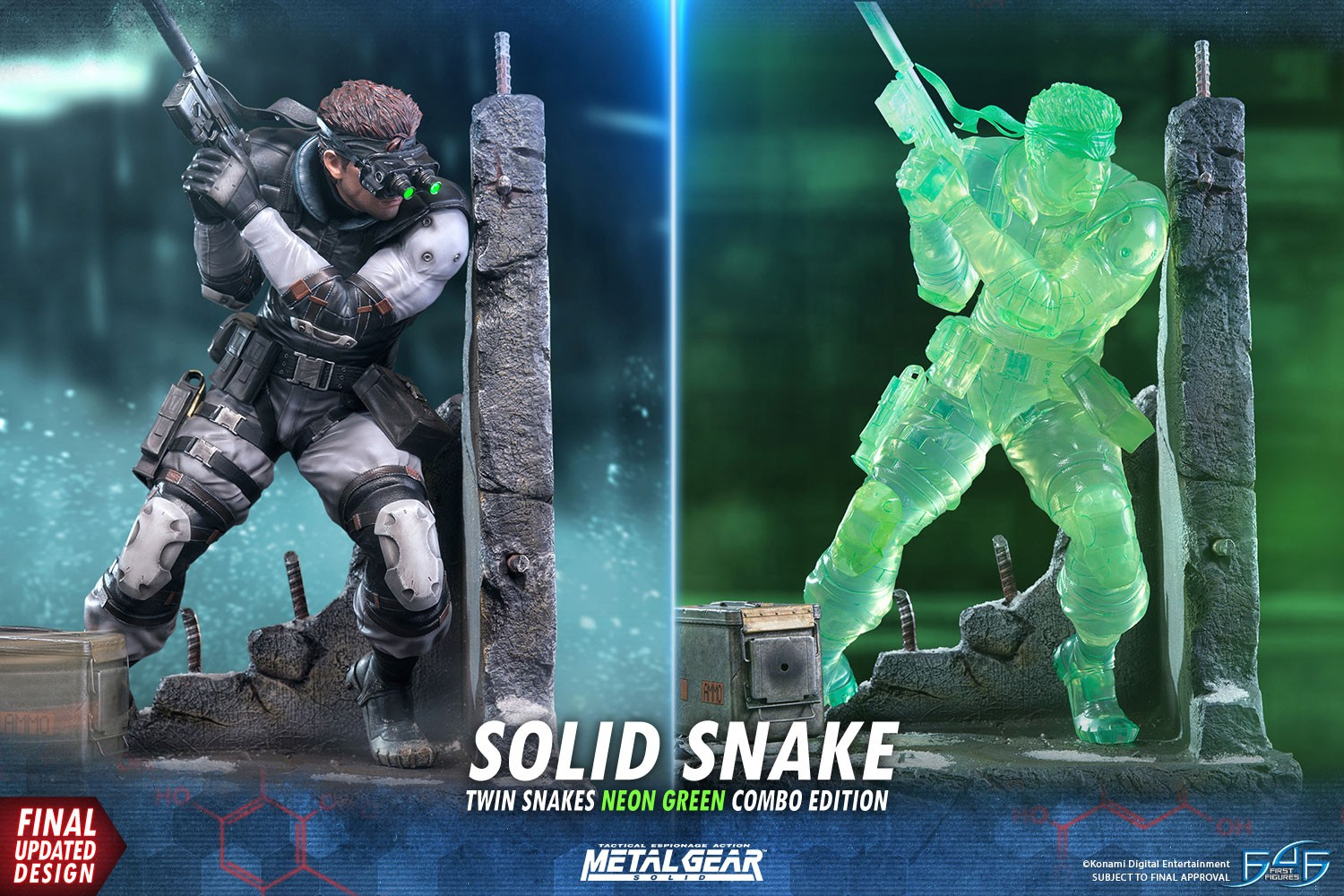 Solid Snake Twin Snakes Neon Green Combo Edition