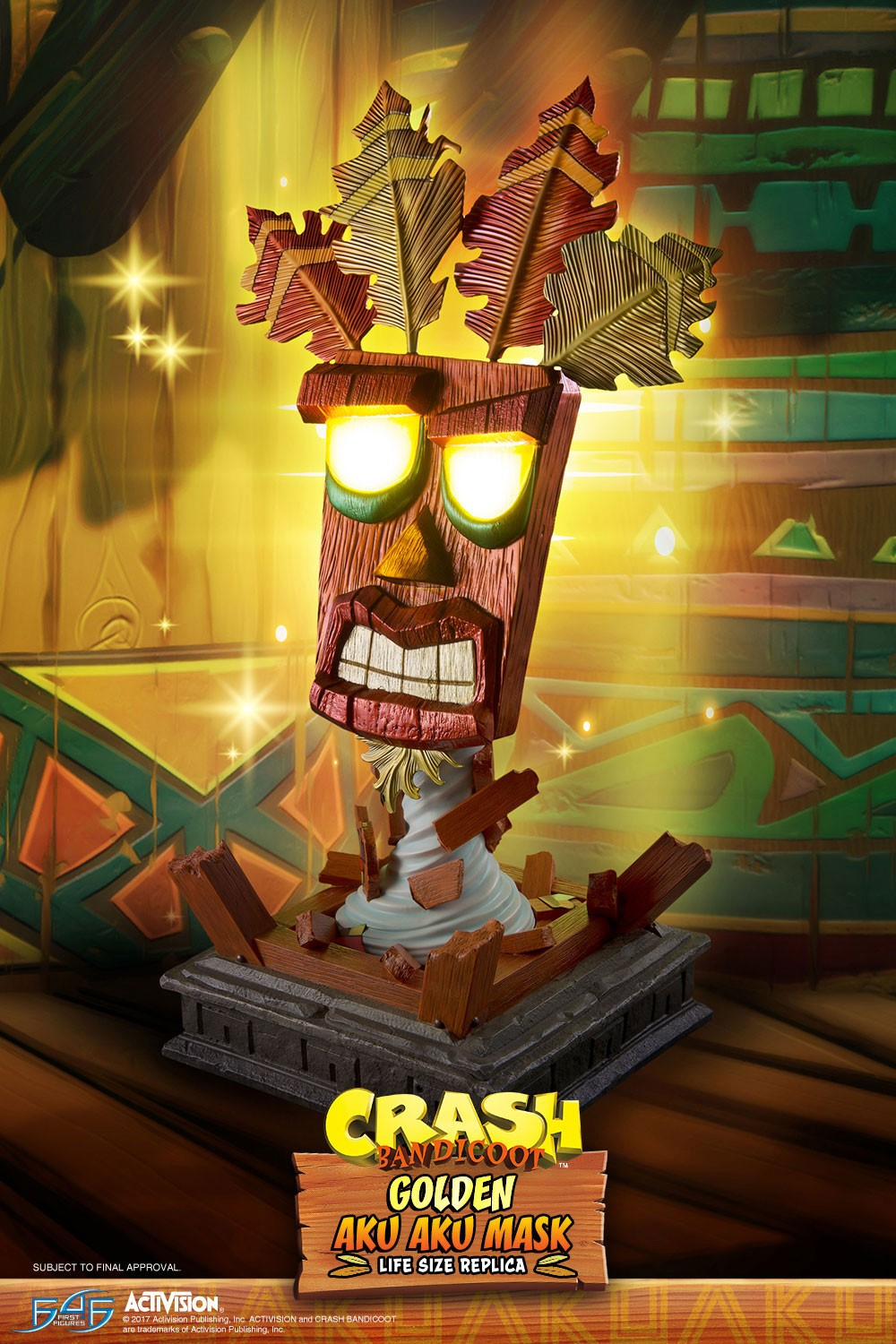 Golden Aku Aku Mask