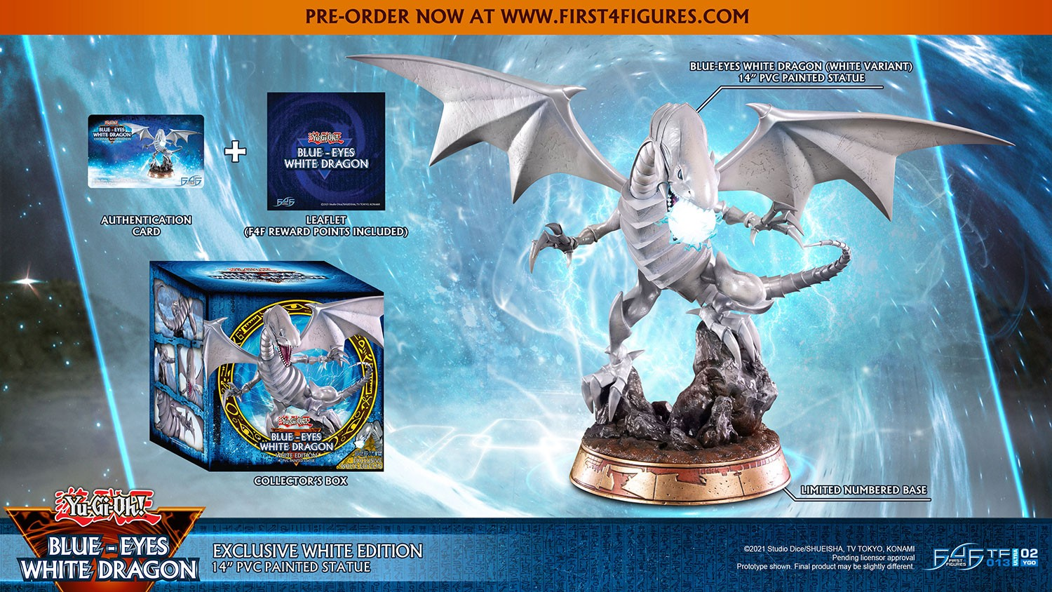 Yu-Gi-Oh! – Blue-Eyes White Dragon (Exclusive White Edition)