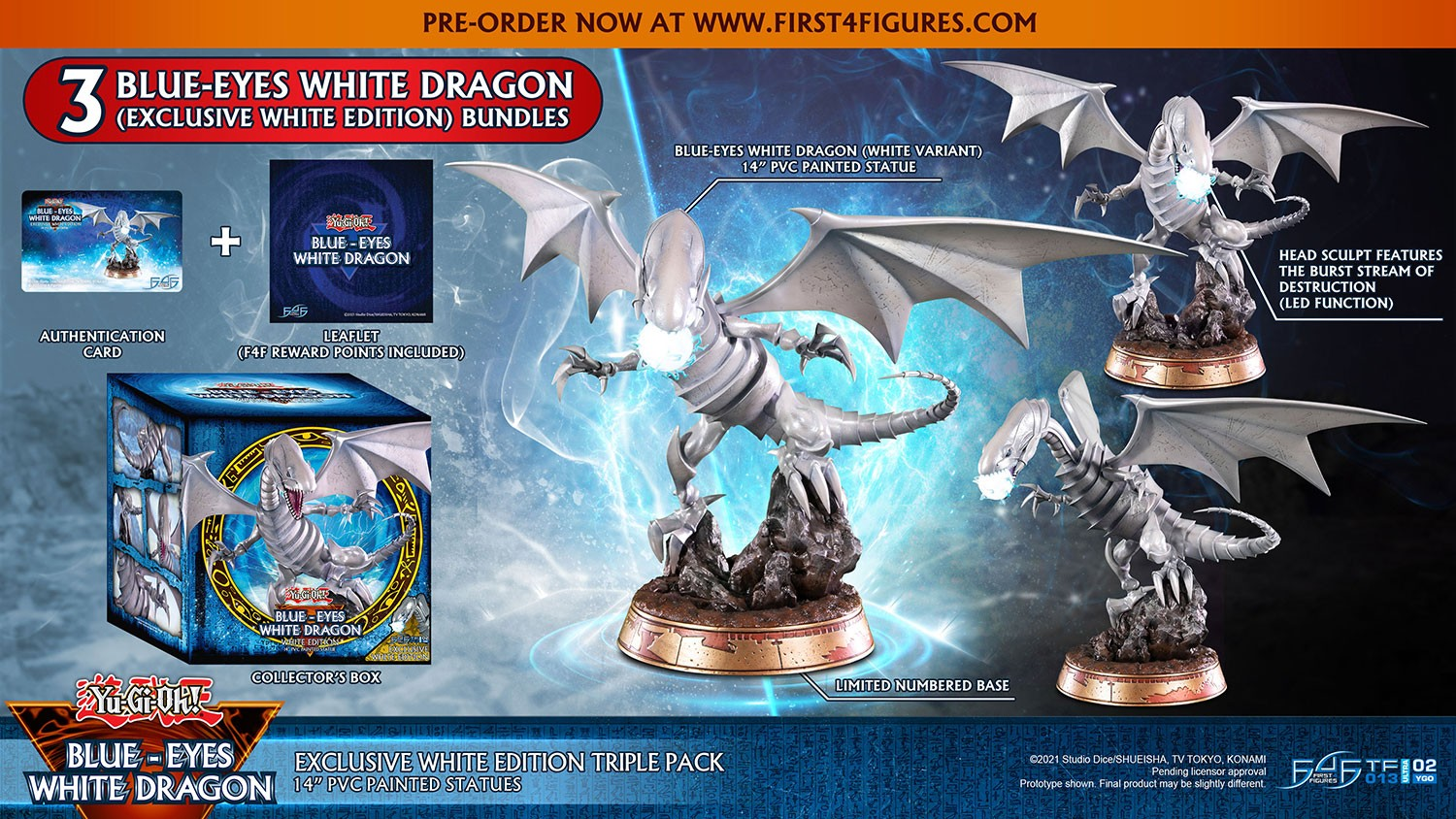 Yu-Gi-Oh! – Blue-Eyes White Dragon (Exclusive White Edition Triple Pack)