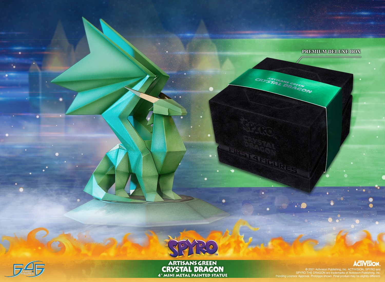 Spyro™ - Artisans Green Crystal Dragon