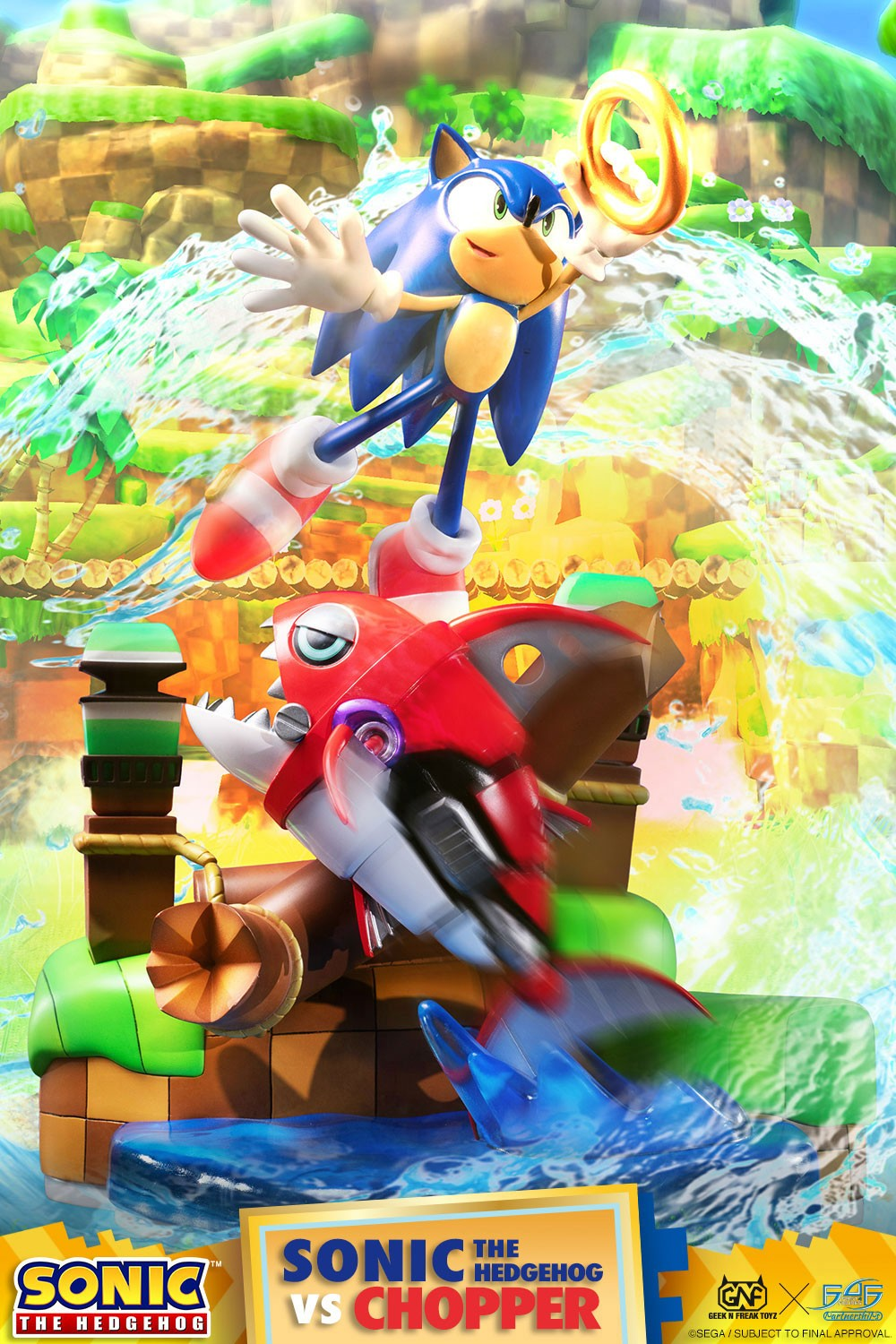 Sonic The Hedgehog vs Chopper Diorama