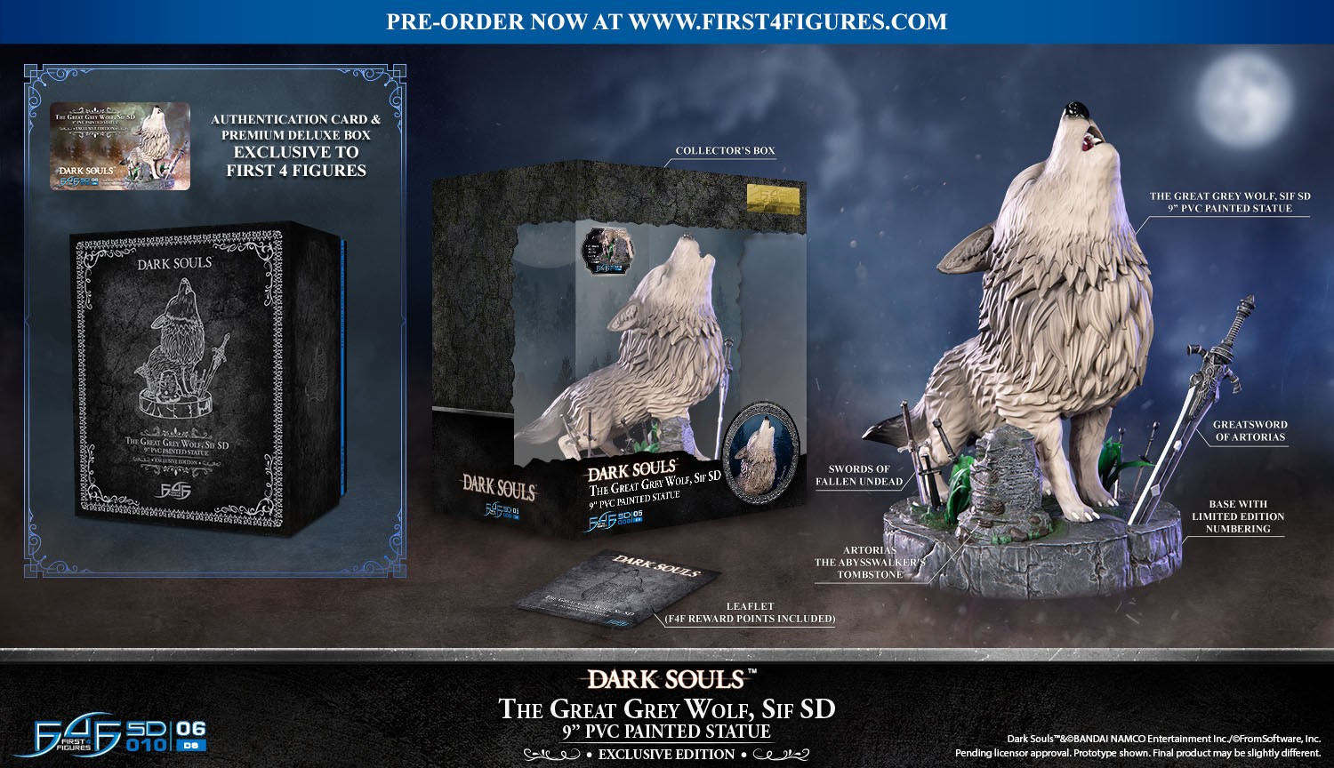 Dark Souls™ - The Great Grey Wolf Sif SD PVC Statue (Exclusive Edition)