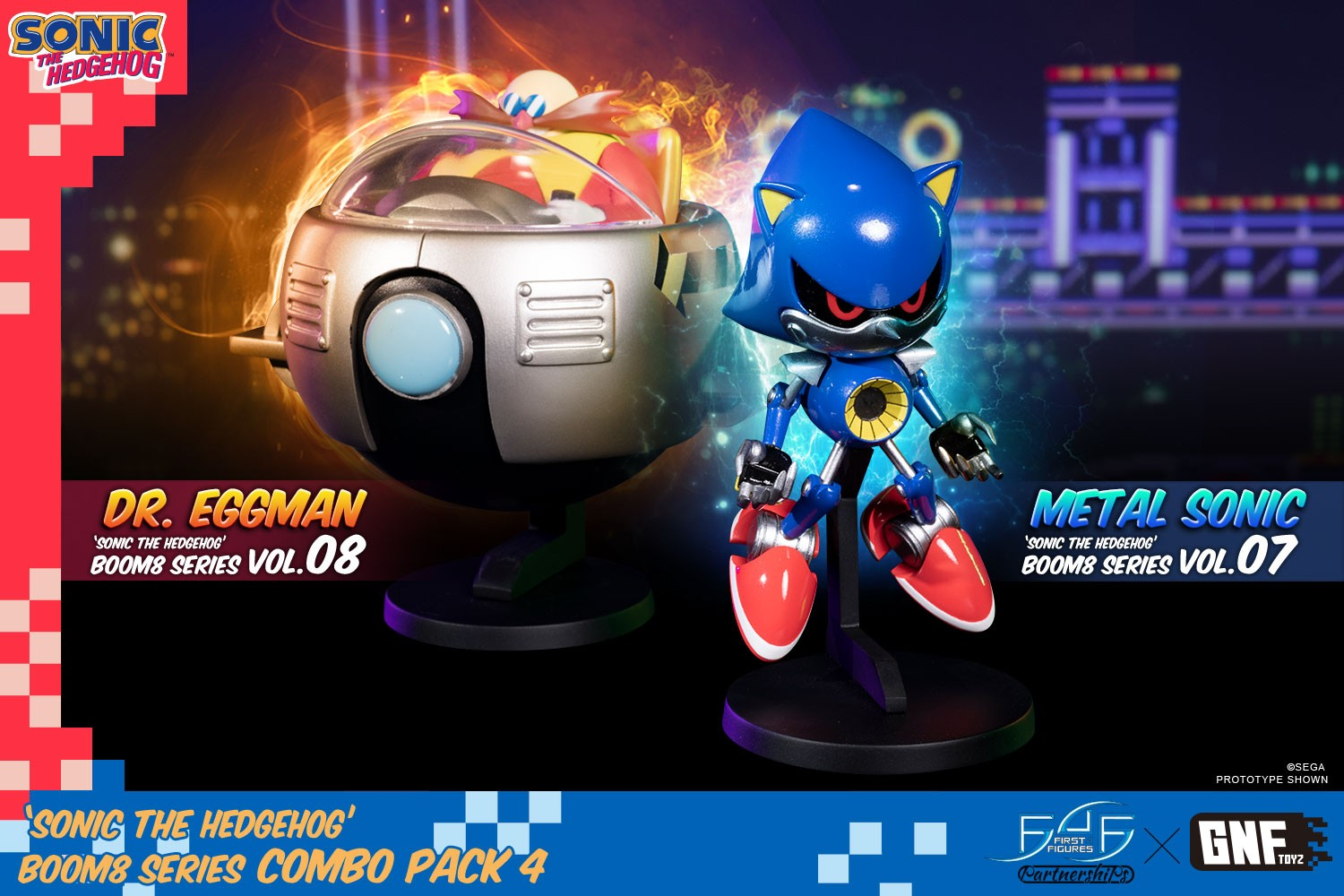 Sonic The Hedgehog Boom8 Series Combo Pack 4