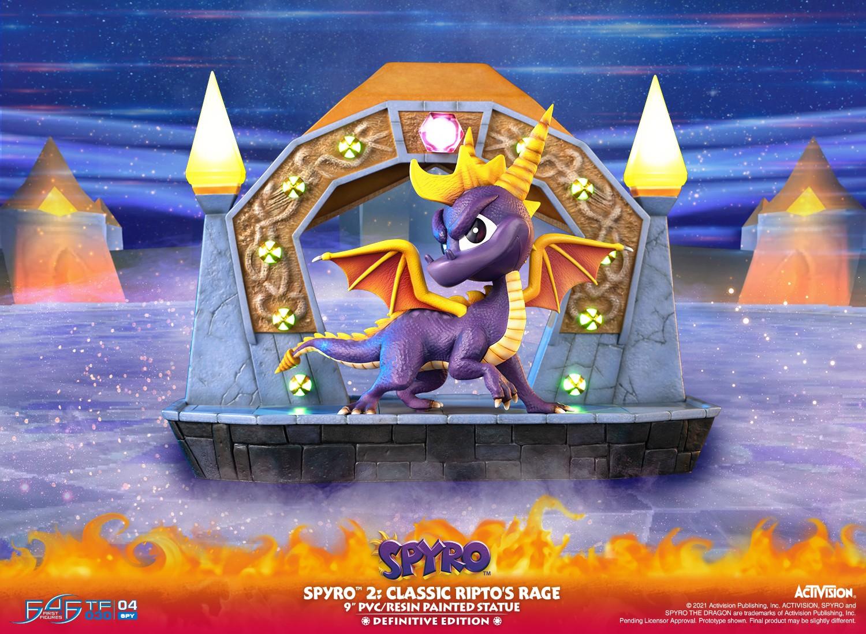 """Spyro™ 2: Classic Ripto's Rage 9"""" PVC Statue  (Definitive Edition)"""