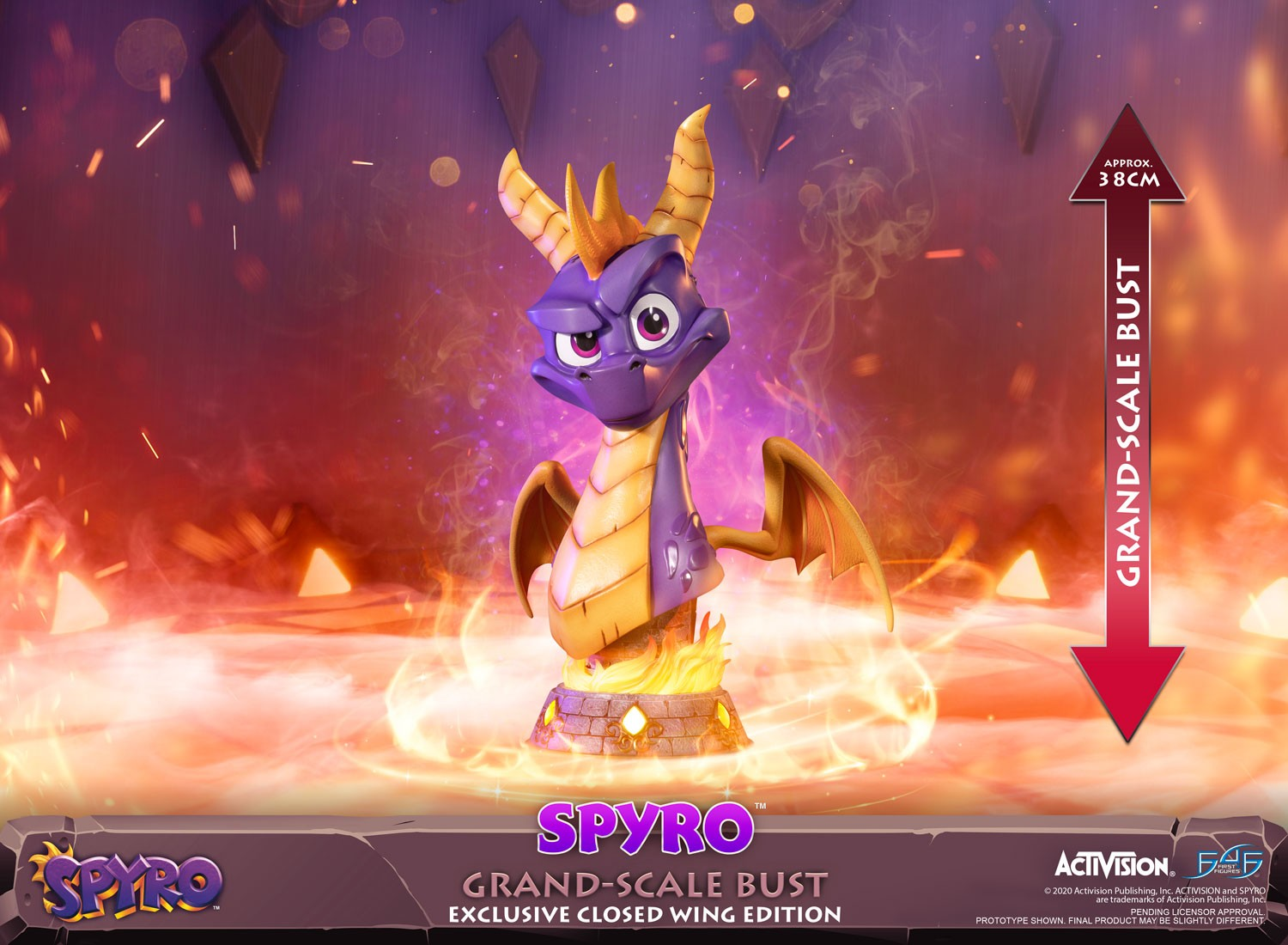 Spyro™ the Dragon – Spyro™ Grand-Scale Bust (Exclusive Closed Wing Edition)
