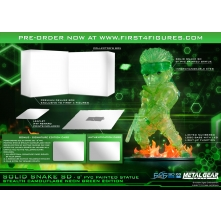 Solid Snake SD Stealth Camouflage Neon Green Exclusive Edition