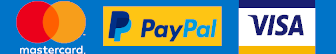 Supported payment methods - Mastercard, Paypal, VISA