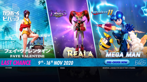 Last Chance – Faye Valentine, Reala, and Mega Man