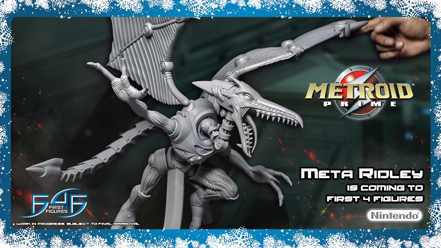 Metroid Prime - updated look at First 4 Figures Meta Ridley figurine