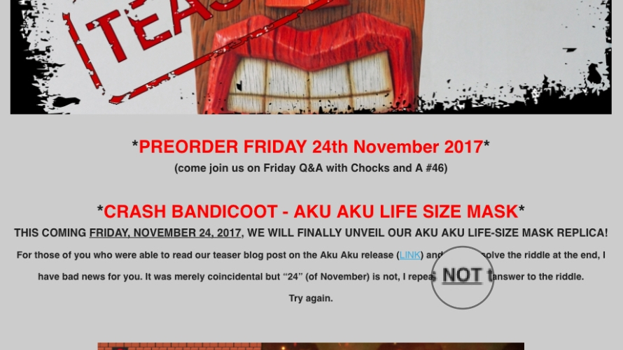 Aku Aku Teaser: Not What You Thought