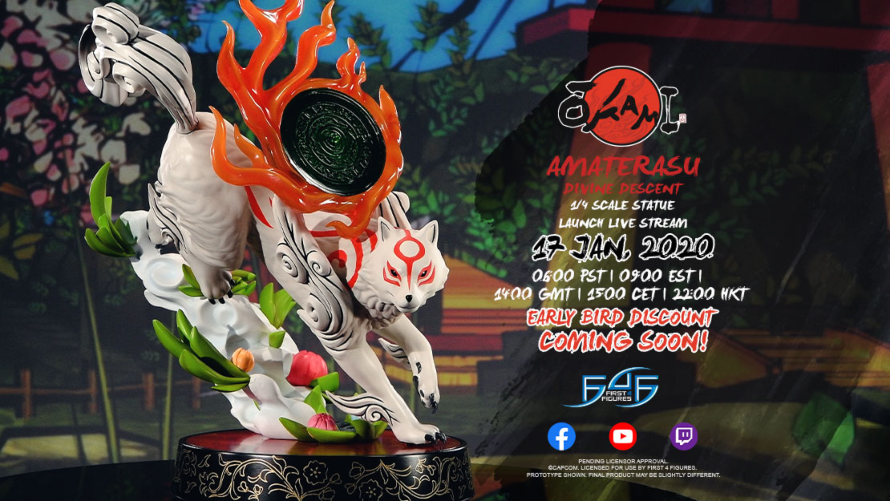 Amaterasu: Divine Descent Statue Coming Soon
