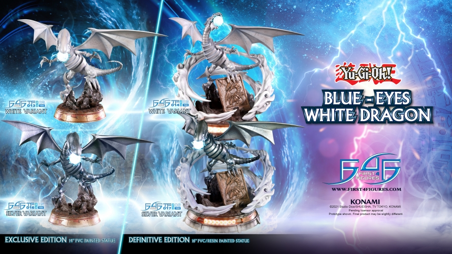 Yu-Gi-Oh! – Blue-Eyes White Dragon PVC Statue Launch