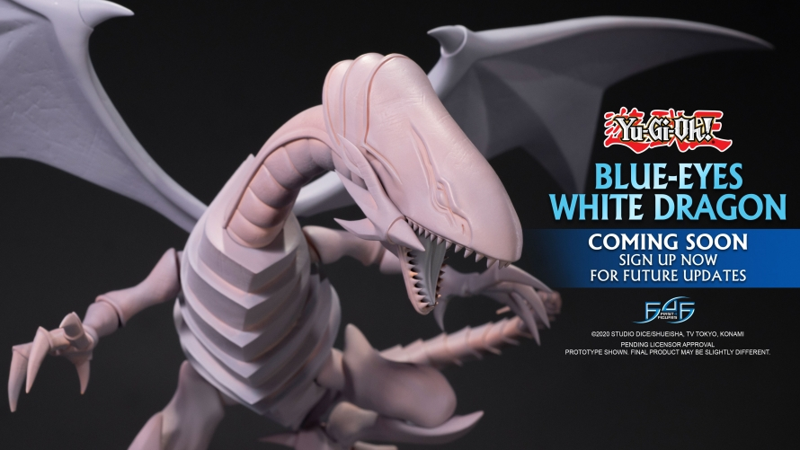 A First Look at the Yu-Gi-Oh! – Blue-Eyes White Dragon Statue