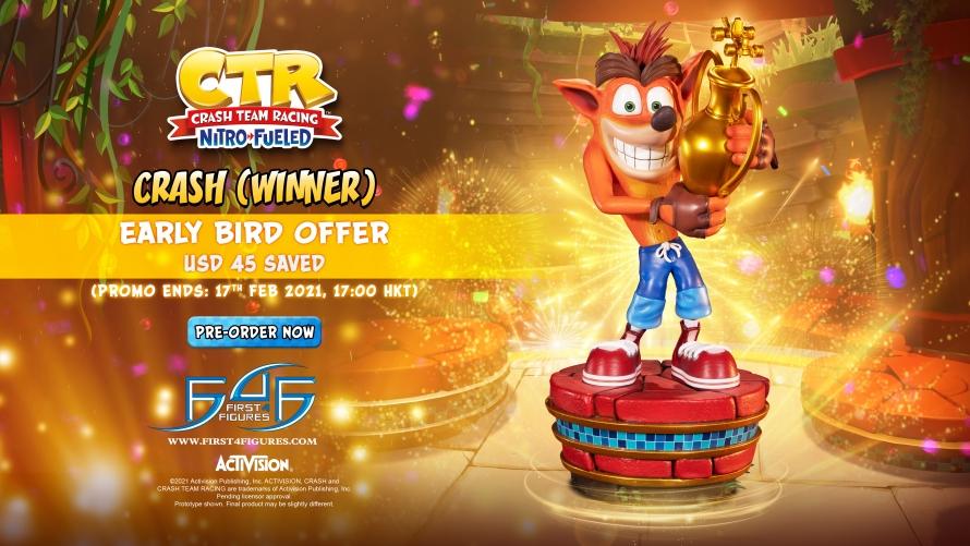 Crash Team Racing™ Nitro-Fueled – Crash (Winner) Statue Pre-Order FAQs