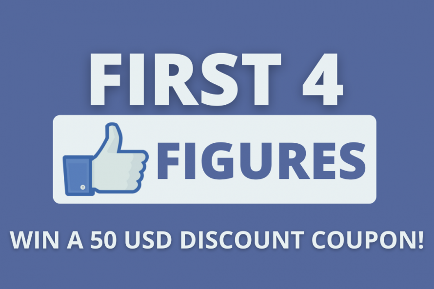First 4 Figures 50 USD Discount Coupon Giveaway