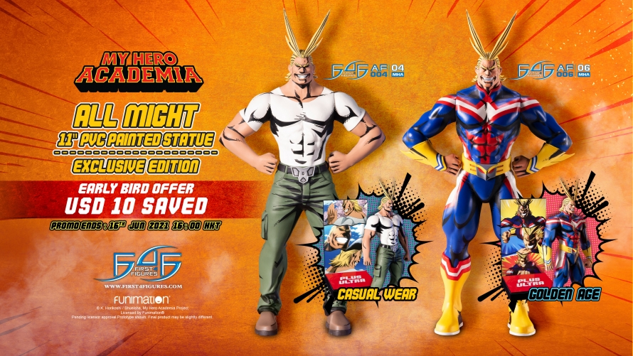 My Hero Academia – All Might: Golden Age and All Might: Casual Wear PVC Action Figures Pre-Order FAQs
