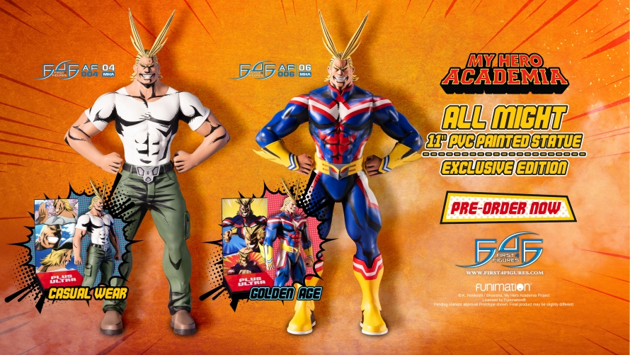 My Hero Academia – All Might: Golden Age and All Might: Casual Wear PVC Action Figures Launch