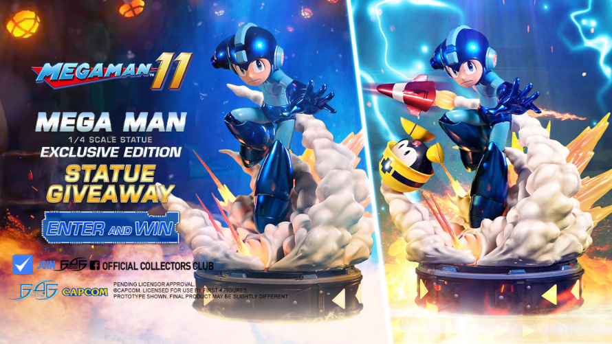 Mega Man Statue Launch & Giveaway