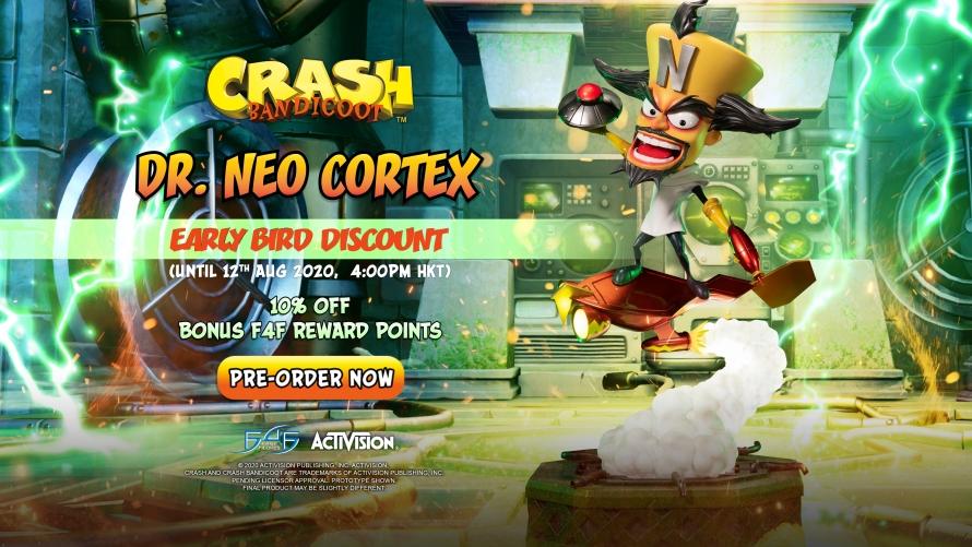 Crash Bandicoot™ – Dr. Neo Cortex Statue Pre-Order FAQs