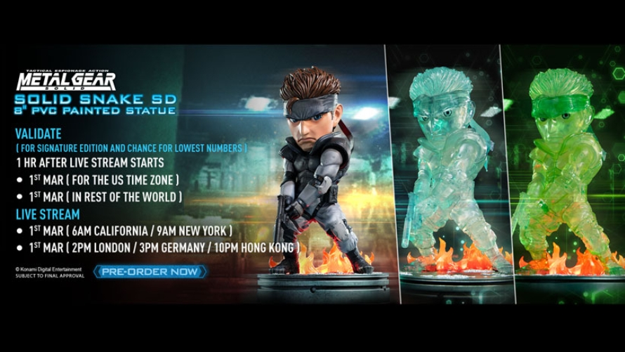 Solid Snake SD 8″ PVC Pre-Order FAQs