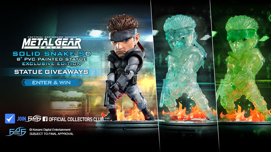 Solid Snake SD 8″ PVC Launch & Giveaway