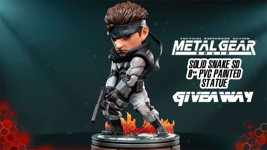Metal Gear Solid – Solid Snake SD PVC Statue Giveaway