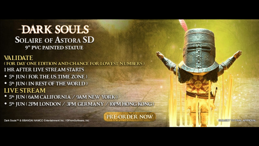 Solaire of Astora SD Pre-Order FAQs