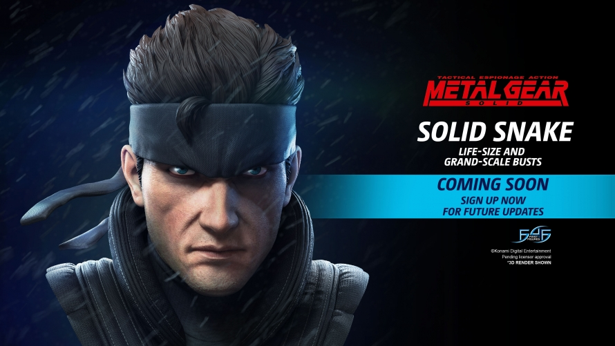 Metal Gear Solid – Solid Snake Bust Statue Coming Soon