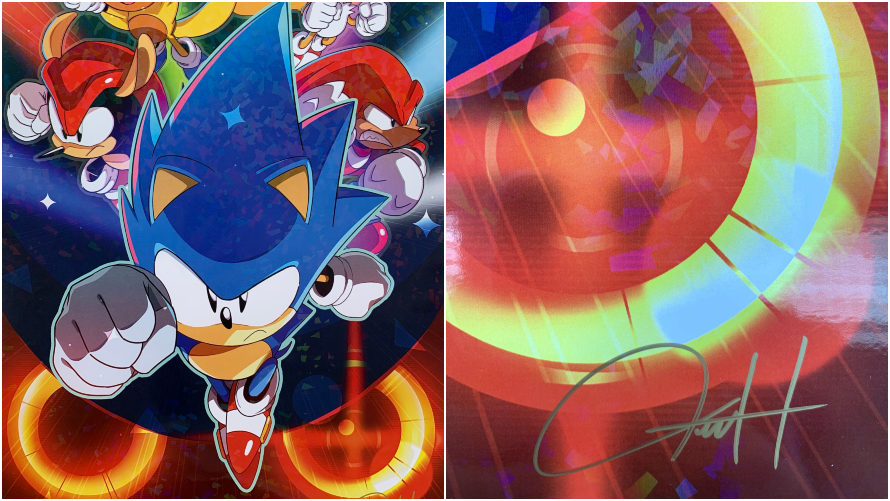 Sonic Mania Signed Art Print Giveaway