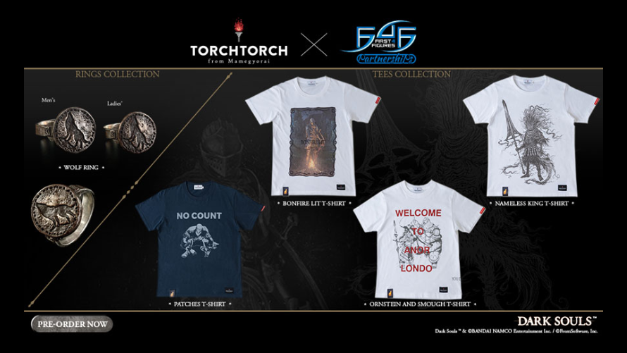 F4F x TORCH TORCH: Wolf Ring & Dark Souls Tees Collection
