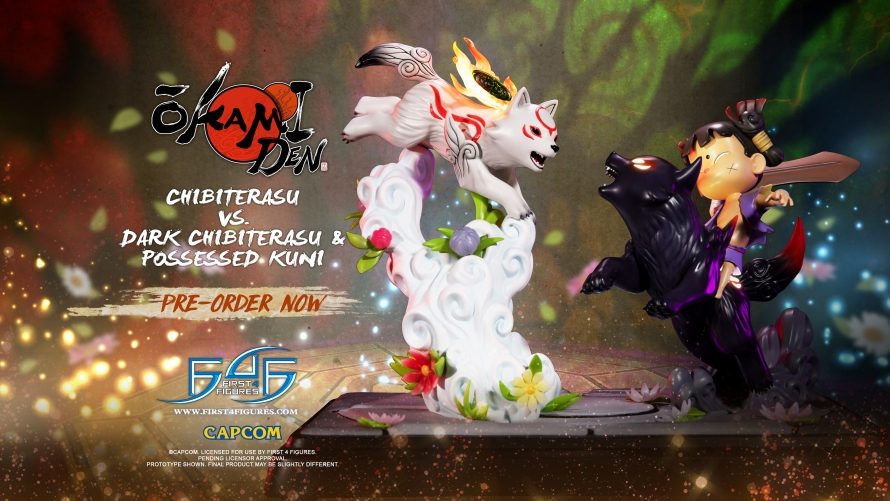 Okamiden – Chibiterasu vs. Dark Chibiterasu & Possessed Kuni Statue Pre-Order FAQs