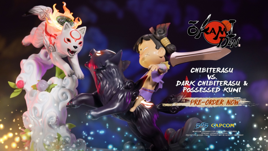 Okamiden – Chibiterasu vs. Dark Chibiterasu & Possessed Kuni Statue Launch