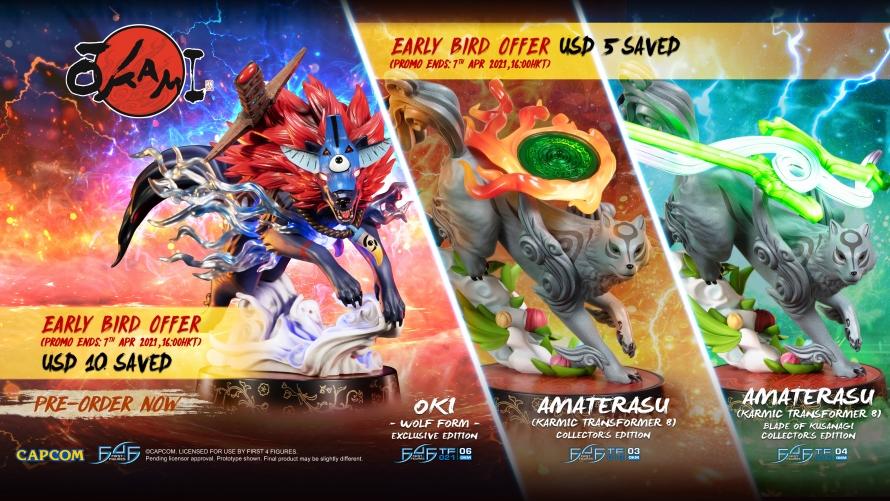 Okami – Oki (Wolf Form) PVC and Amaterasu PVC: Karmic Transformer 8 Statue Pre-Order FAQs