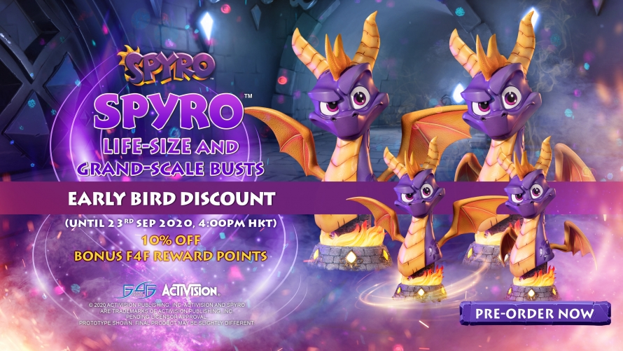 Spyro™ the Dragon – Spyro™ Bust Statue Pre-Order FAQs