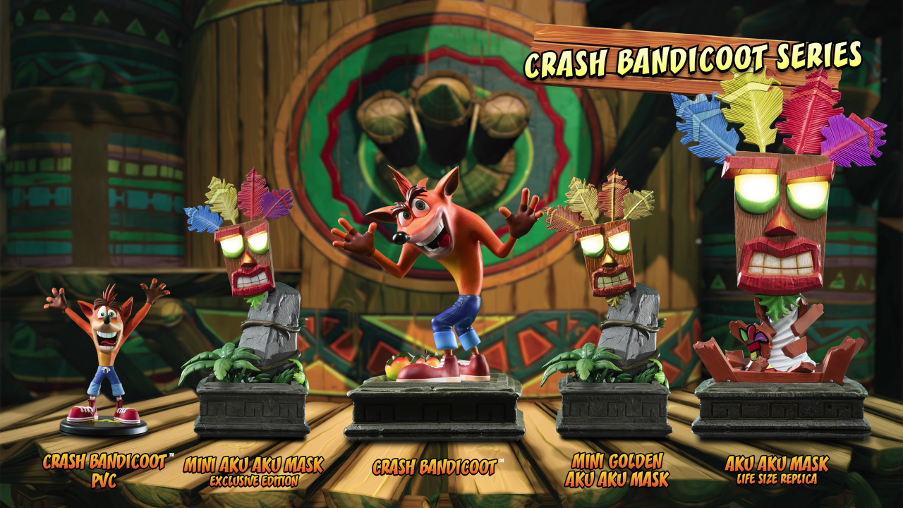 Crash Bandicoot series | First 4 Figures
