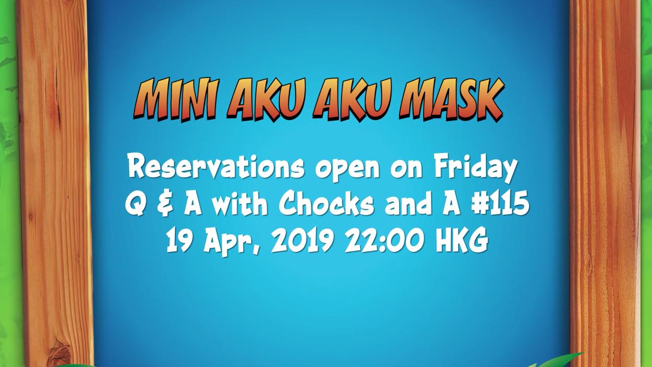 Mini Aku Aku Mask pre-order schedule