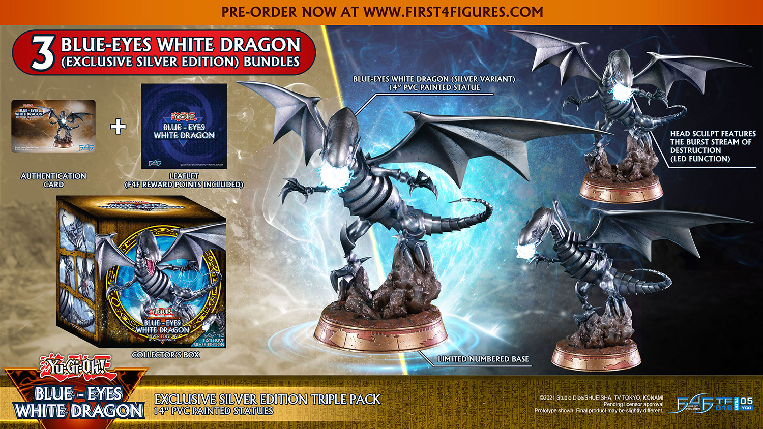 Blue-Eyes White Dragon (Exclusive Silver Edition Triple Pack)