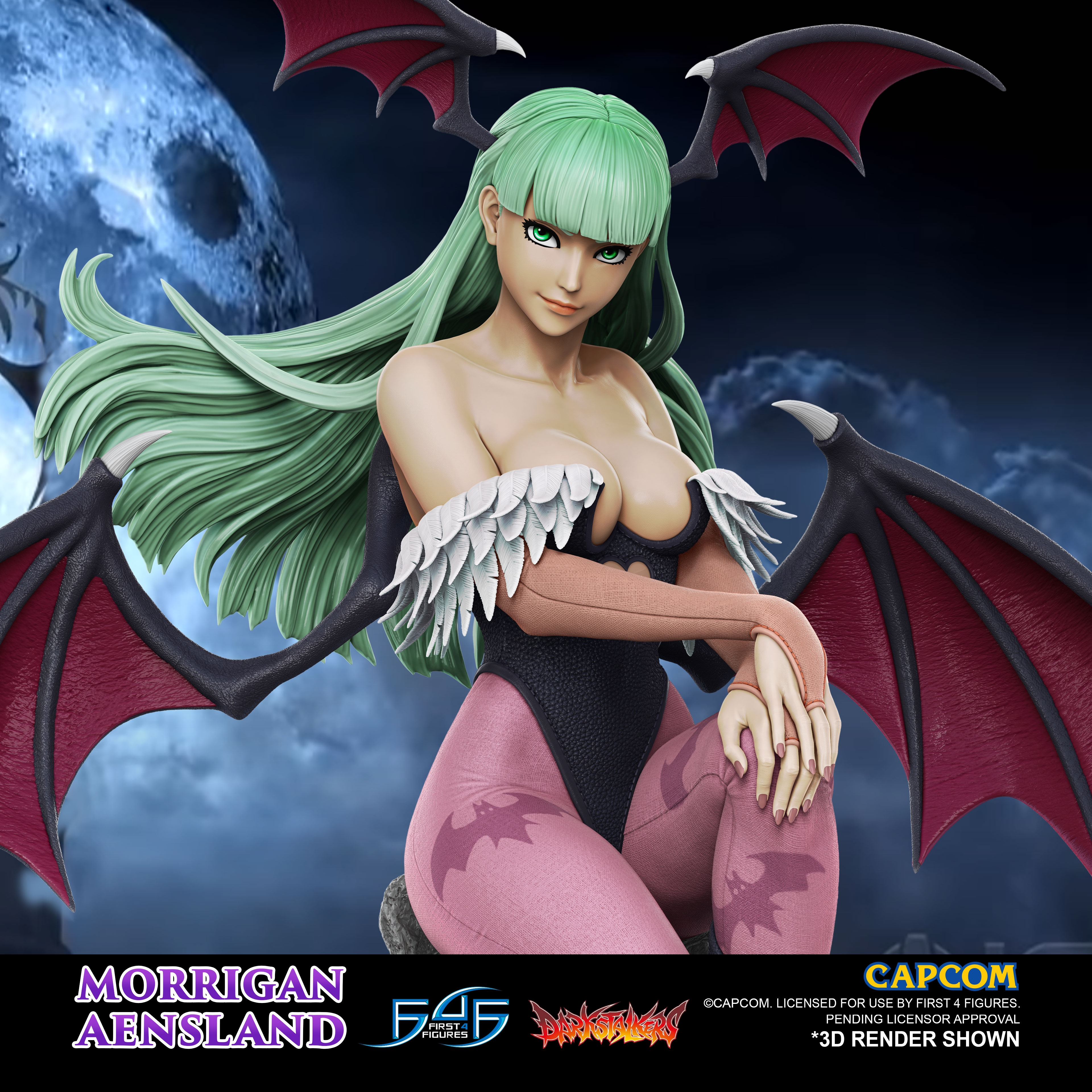 A First Look at First 4 Figures' Darkstalkers – Morrigan Aensland Statue
