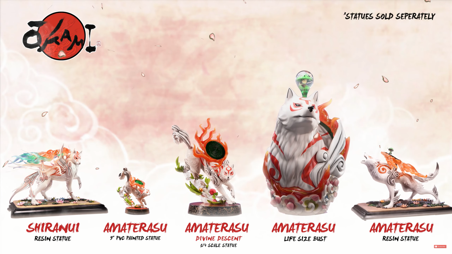 First 4 Figures Ōkami series