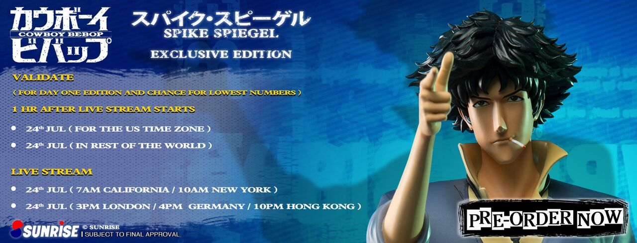 Spike Spiegel Validation Schedule