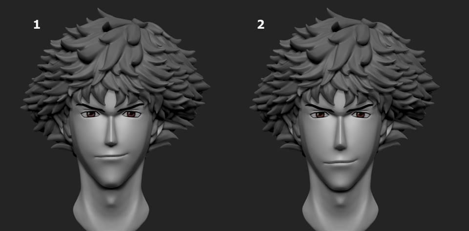 Spike Spiegel 3D concept