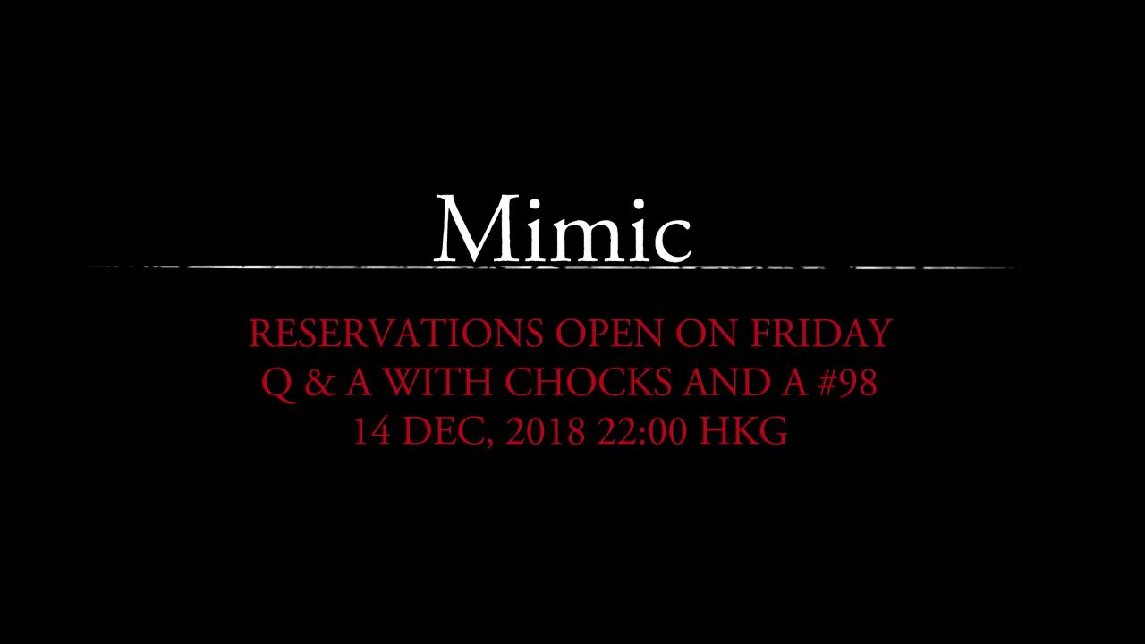 Mimic pre-order schedule