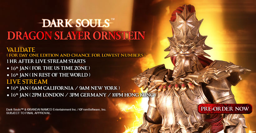 Dragon Slayer Ornstein Pre-Order Now Open