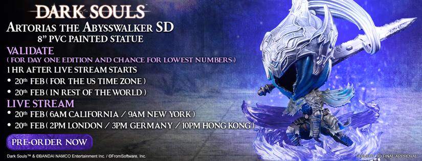 Artorias the Abysswalker SD Pre-Order Now Live