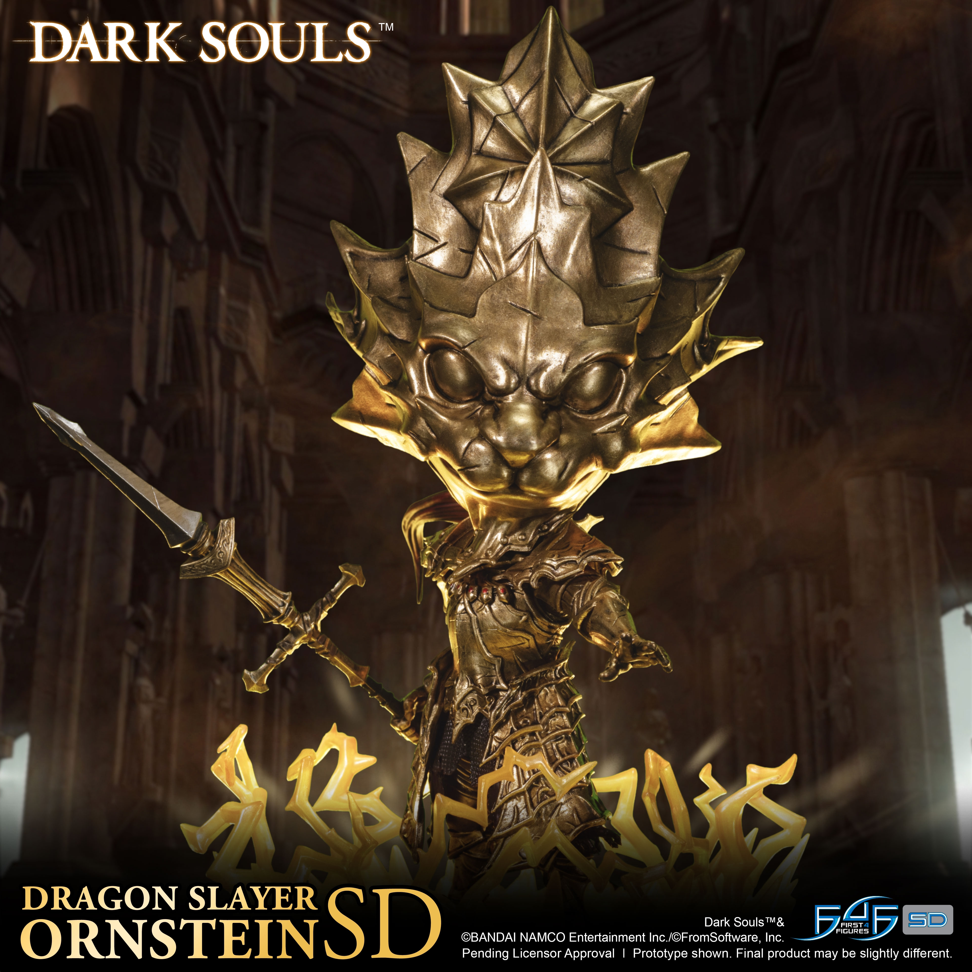 A First Look at First 4 Figures' Dark Souls – Dragon Slayer Ornstein SD Statue
