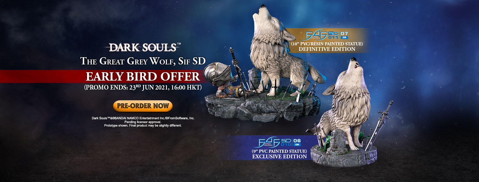 Dark Souls™ – The Great Grey Wolf, Sif SD PVC statue Early Bird Offer