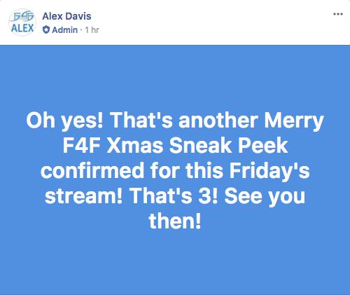 2017 Christmas Sneaks Confirmed